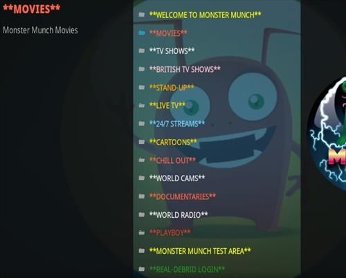 How To Install Monster Munch Kodi Addon New Updtaed V23 Overview