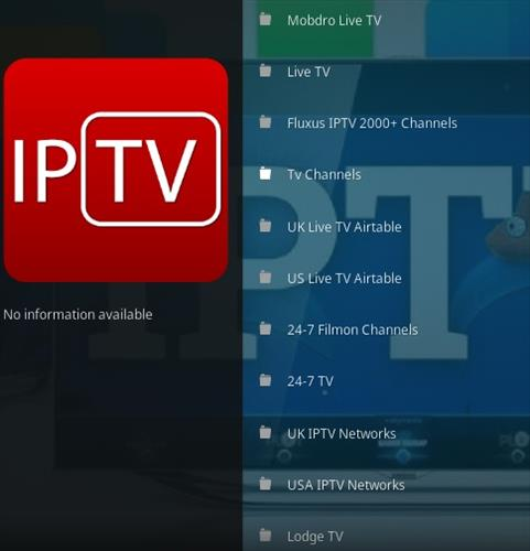 Kodi IPTV Addon