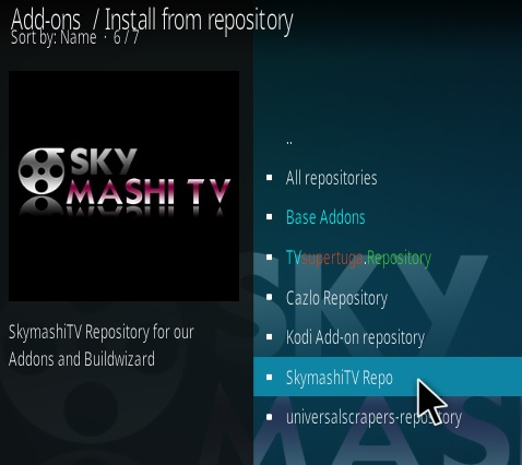 How To Install TV One Kodi IPTV Addon SkyMashi Step 15