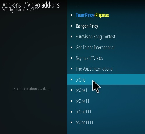 How To Install TV One Kodi IPTV Addon SkyMashi Step 17