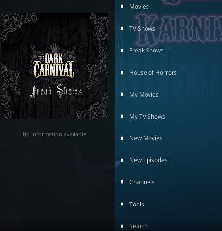 How To Install The Dark Carnival Kodi Addon Overview