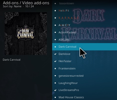 How To Install The Dark Carnival Kodi Addon Step 22