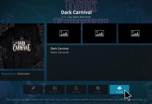 How To Install The Dark Carnival Kodi Addon Step 23