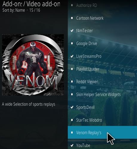 How To Install Venom Replay's Kodi Addon Step 18