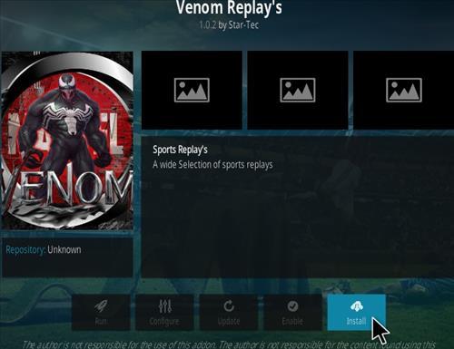 How To Install Venom Replay's Kodi Addon Step 19