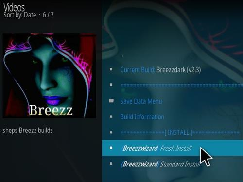 How to Install Breezzdark Kodi Build Step 22