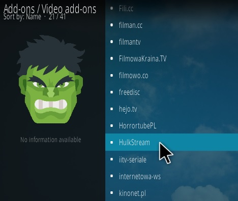 How to Install Hulk Stream Kodi Sports Addon Step 17