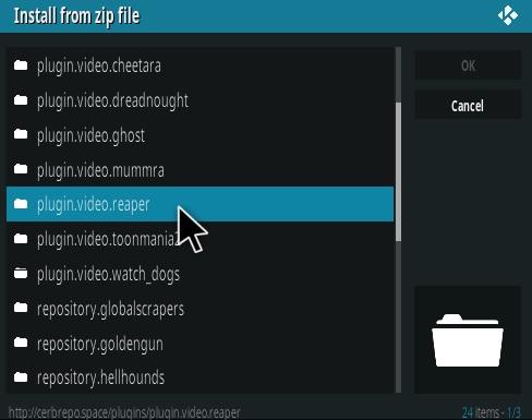 How to Install Reaper Kodi Addon Step 12