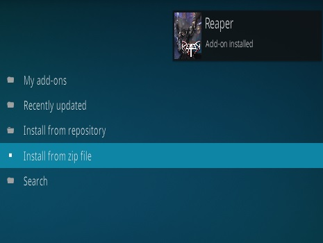 How to Install Reaper Kodi Addon Step 14