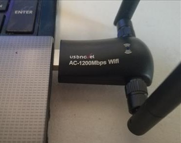 Review USBNOVEL 1200Mbps USB WiFi Adapter USB 3.0 with Dual Antenna close up