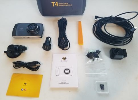 Z-EDGE T4 1080P HD Dash Cam Front and Rear Night Mode and Loop Recording ALL