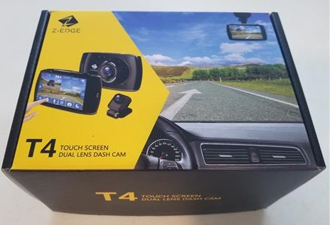 Z-EDGE T4 1080P HD Dash Cam Front and Rear Night Mode and Loop Recording