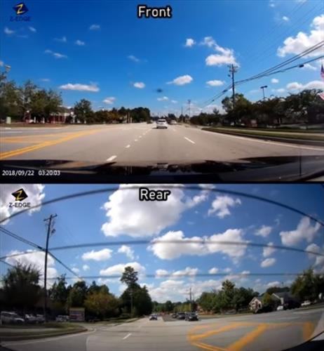 Z-EDGE T4 1080P HD Dash Cam Testing