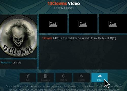 How To Install 13 Clowns Kodi Video Addon New Ver 1015a Step 18