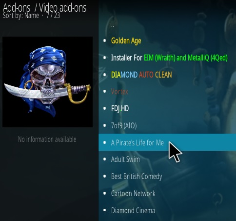 How To Install A Pirates Life For Me Kodi Addon Step 18