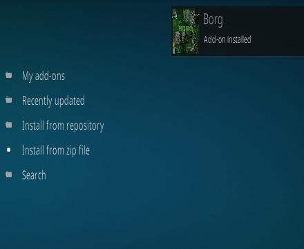 How To Install Borg Kodi Addon New URL Step 13