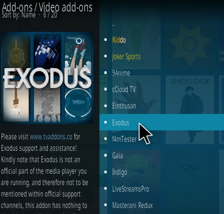 How To Install Exodus 8.0 Kodi 18 Leia Step 18