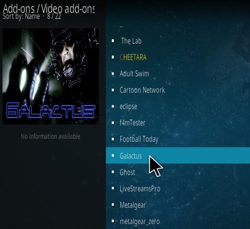 How To Install Galactus Kodi Addon Step 17