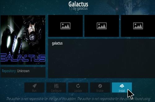 How To Install Galactus Kodi Addon Step 18