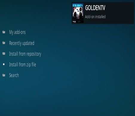 How To Install Golden TV Kodi Addon Step 13