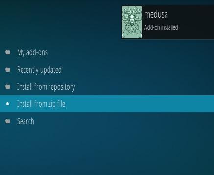How To Install Medusa Kodi Addon Step 13
