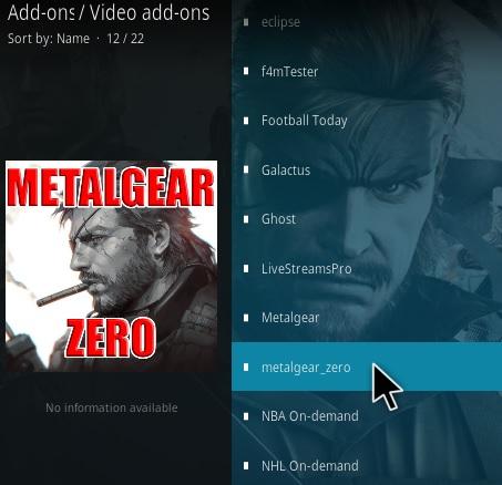 How To Install Metal Gear Zero Kodi Addon Step 17