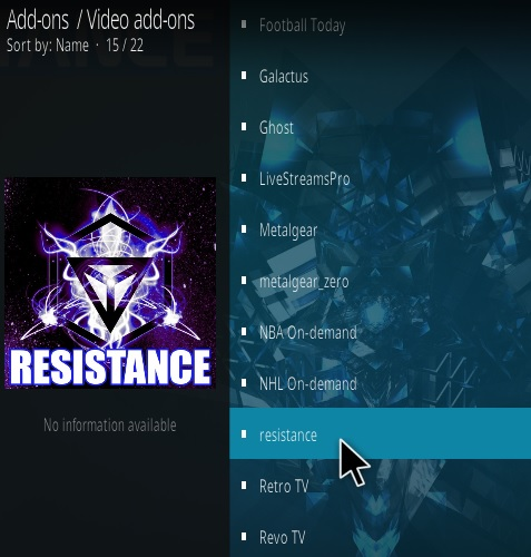How To Install Resistance Kodi Addon New V 732 Step 17