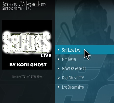 How To Install Selfless Live Kodi Addon Step 17