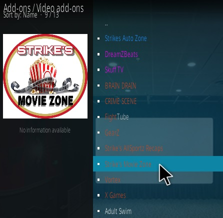 How To Install Strike's Movie Zone Kodi Addon Step 17