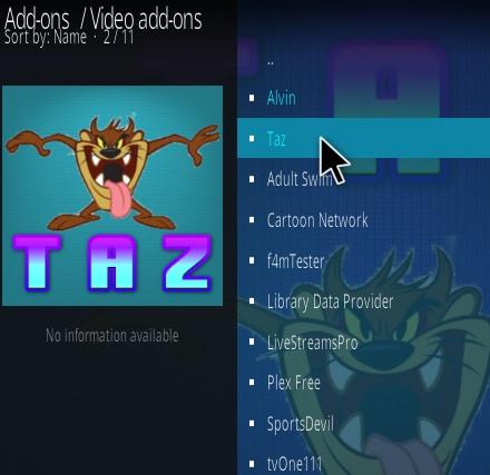 How To Install TAZ Kodi Addon Step 17