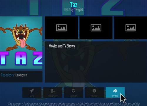 How To Install TAZ Kodi Addon Step 18