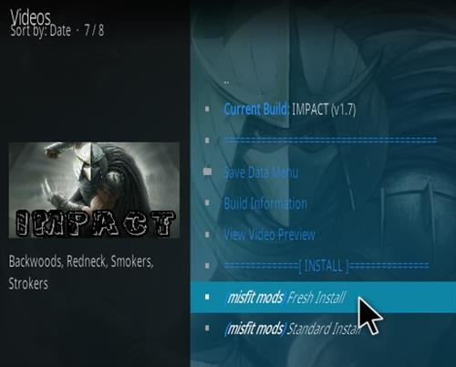 How to Install Impact Kodi Build Step 24