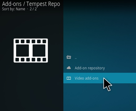 Steps To Install Tempest Kodi 18 Leia Step 16