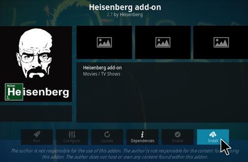 How To Install Heisenberg Kodi Addon Step 19
