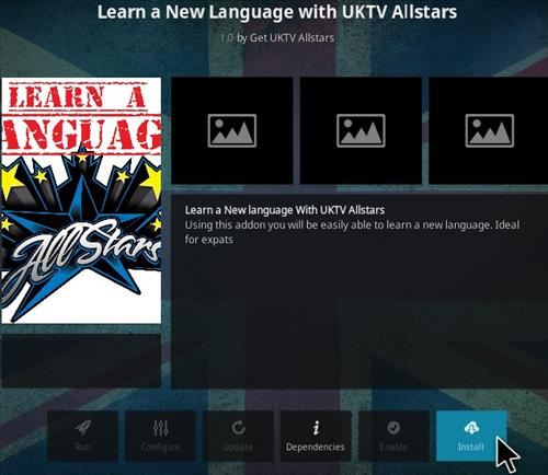 How To Install Learn a Language Kodi Addon Step 18