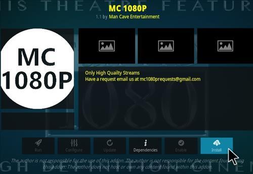 How To Install MC 1080P Kodi Updated Step 19