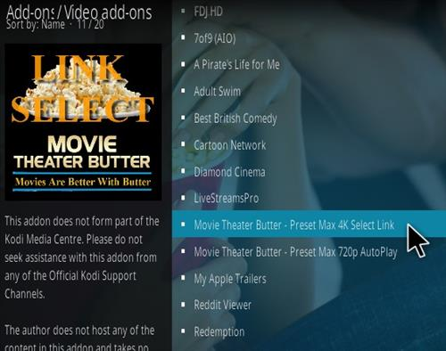 How To Install Movie Theater Butter Kodi Addon Updated 777 Step 18
