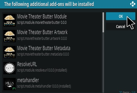 Movie Theater Butter Select Link Addon — ZwiftItaly