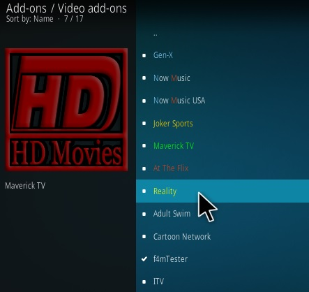 How To Install Reality Kodi 18 Leia Step 17