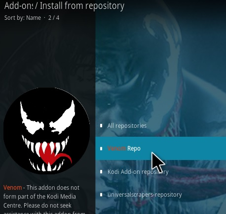 How To Install Venom Kodi Addon Step 15
