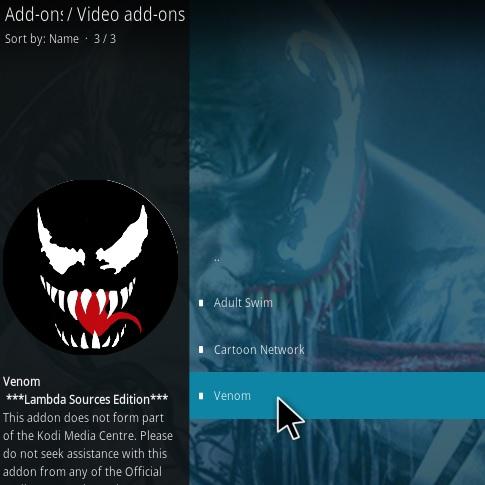 How To Install Venom Kodi Addon Step 17