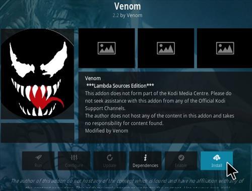 How To Install Venom Kodi Addon Step 18