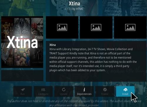How To Install Xtina Kodi Addon Step 18