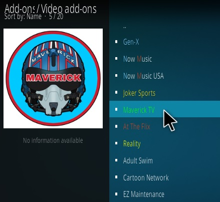 How to Install Maverick TV Kodi Addon New Version 38 Step 17