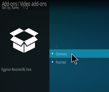Steps To Install Overeasy Kodi Addon Step 17