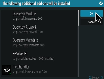 Steps To Install Overeasy Kodi Addon Step 19