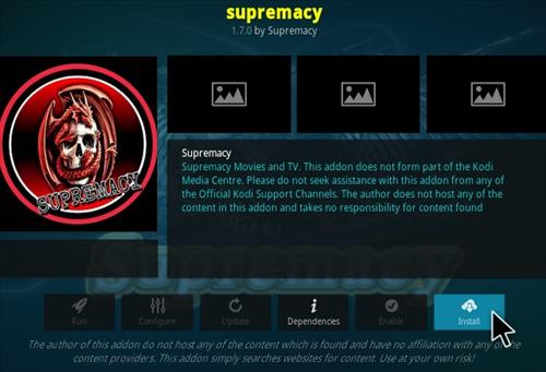 Steps To Install Supremacy Add-on Kodi 18 Leia Step 18