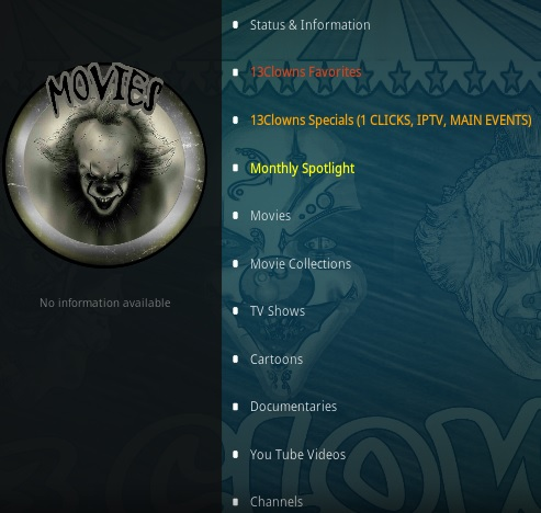 How To Install 13 Clowns Kodi Video Addon Updated Overview