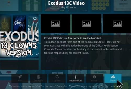 How To Install Exodus 13 Clowns Version 13C Kodi Addon Step 18