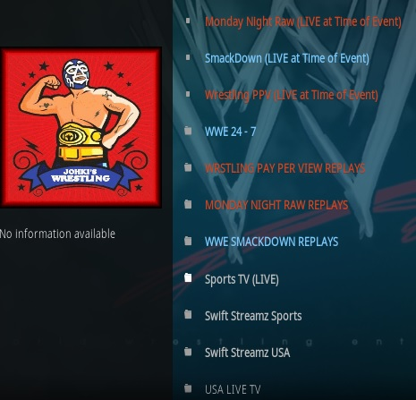 How To Install Johki's Wrestling Kodi Addon Overview